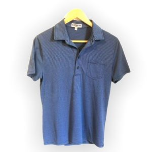 Express Blue Striped Polo
